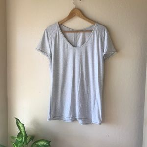Lululemon casual heather grey athletic top